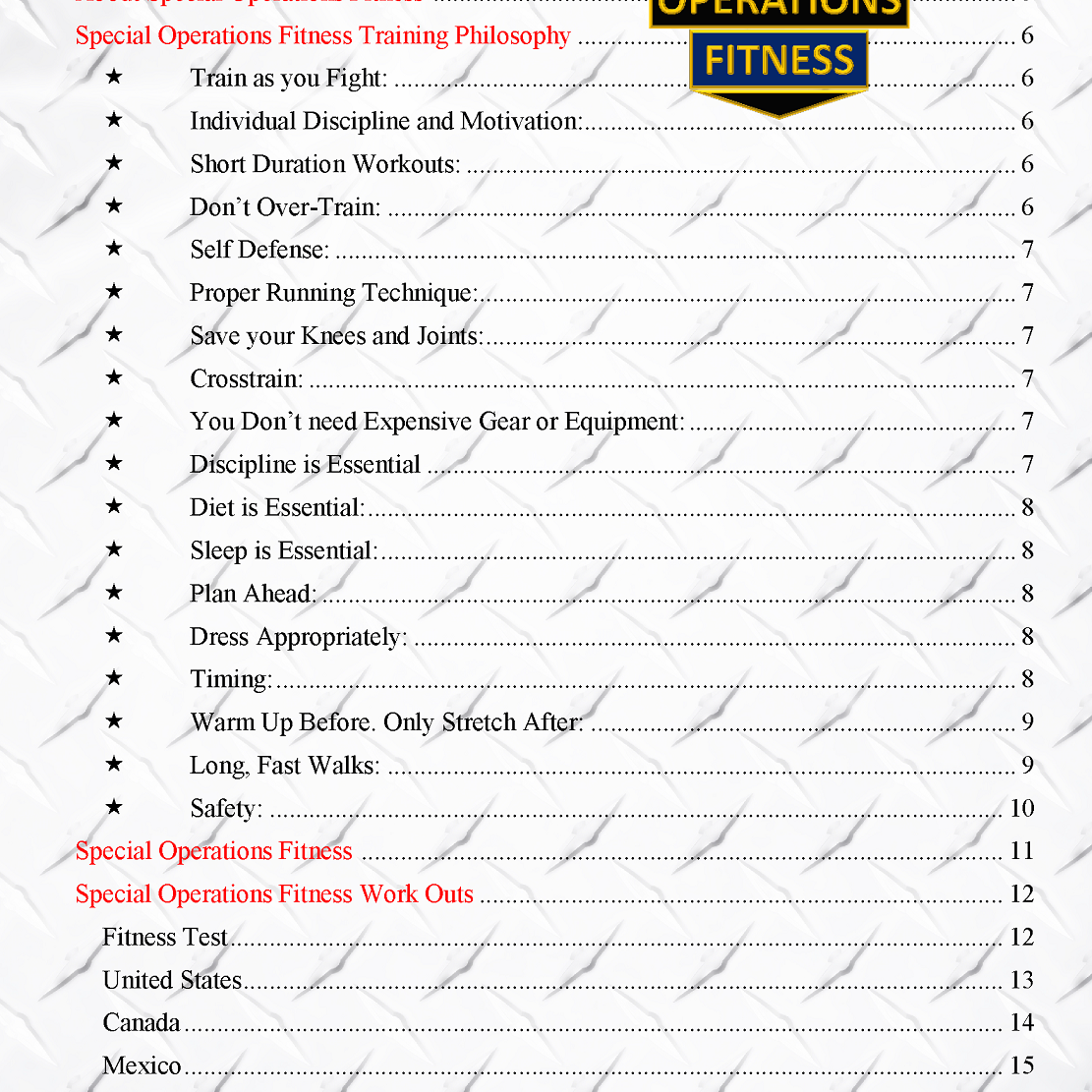 Special Operations Fitness Sample Page Page 03