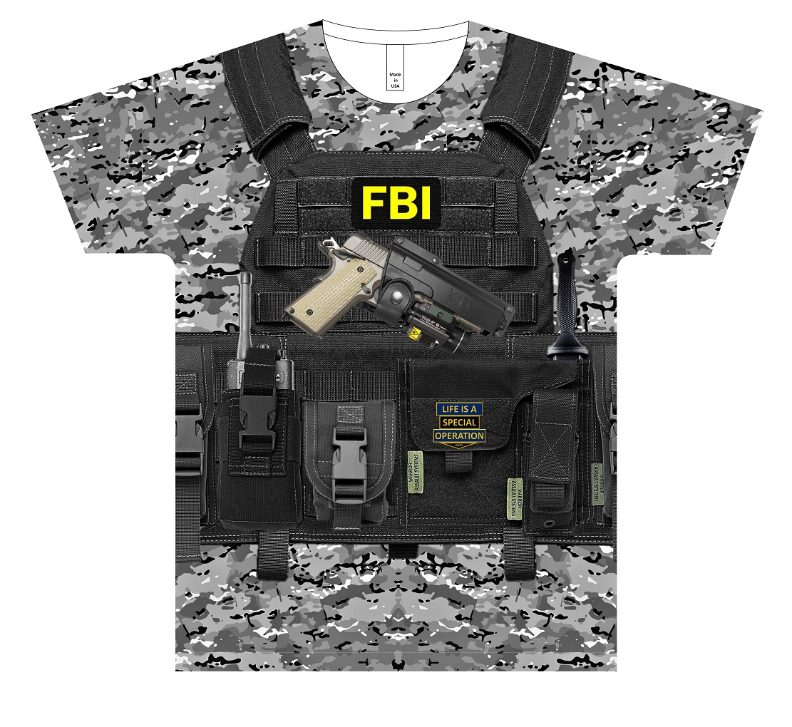 c3e768f2c FBI Body Armor T Shirt by Life is a Special Operation Front HD Mockup