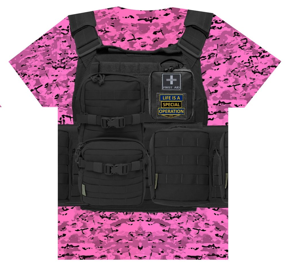 Fashion Police Body Armor T Shirt by Life is a Special Operation Back HD Mockup