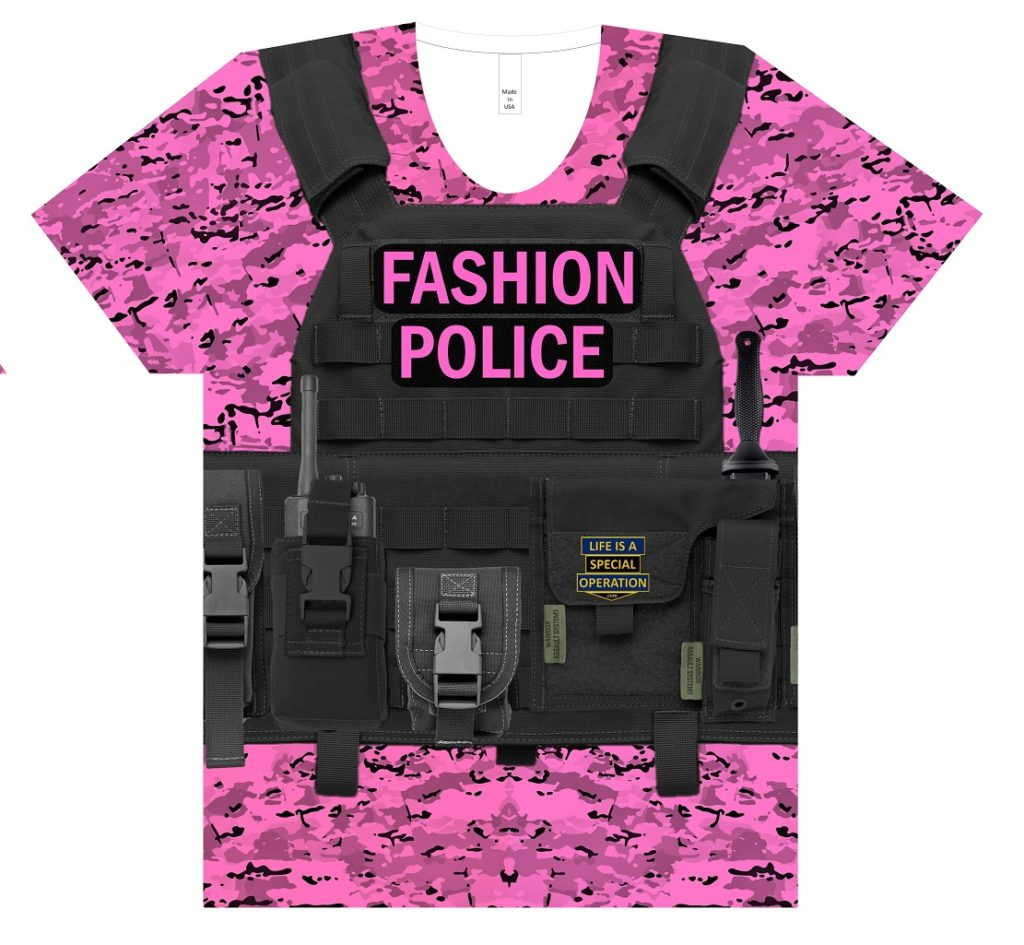 Fashion Police Body Armor T Shirt by Life is a Special Operation Front HD Mockup