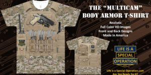 Multicam Body Armor T Shirt by Life is a Special Operation