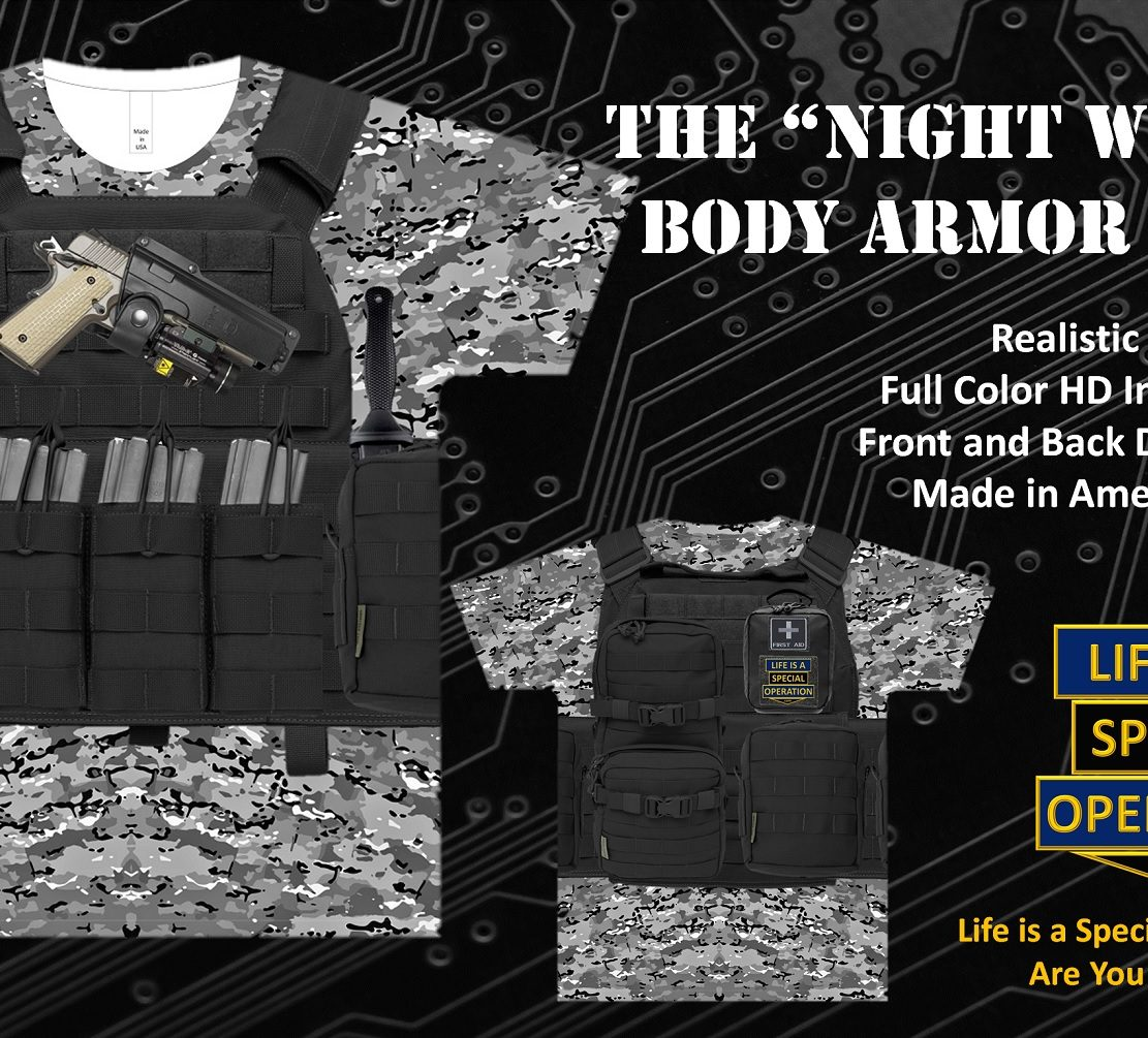Night Warrior Body Armor T Shirt by Life is a Special Operation