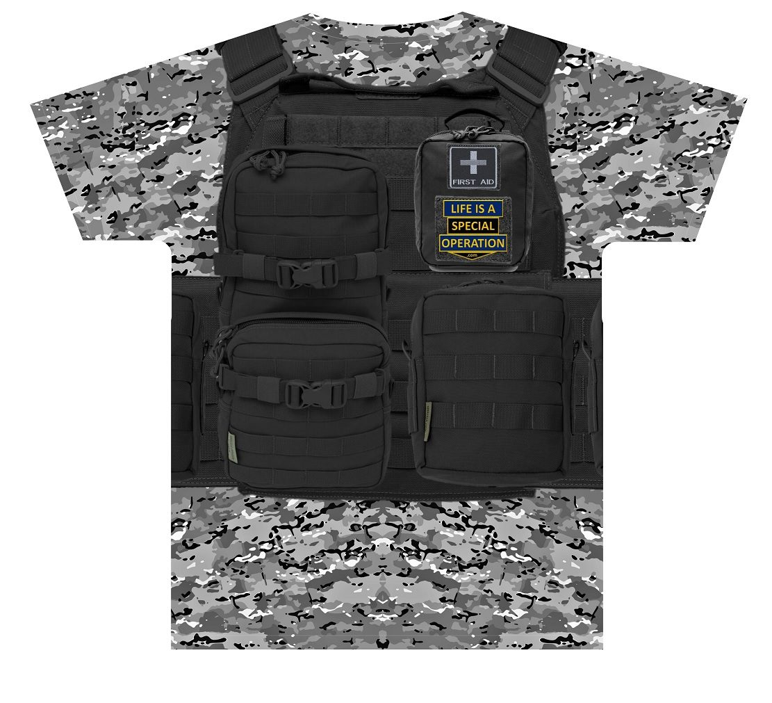 Body Armor T Shirt by Life is a Special Operation Back HD Mockup