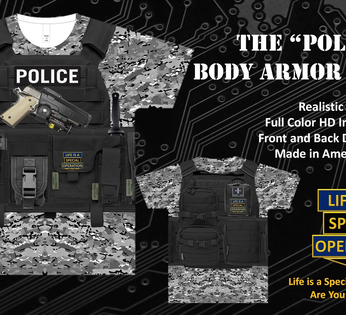 Police Body Armor T Shirt by Life is a Special Operation