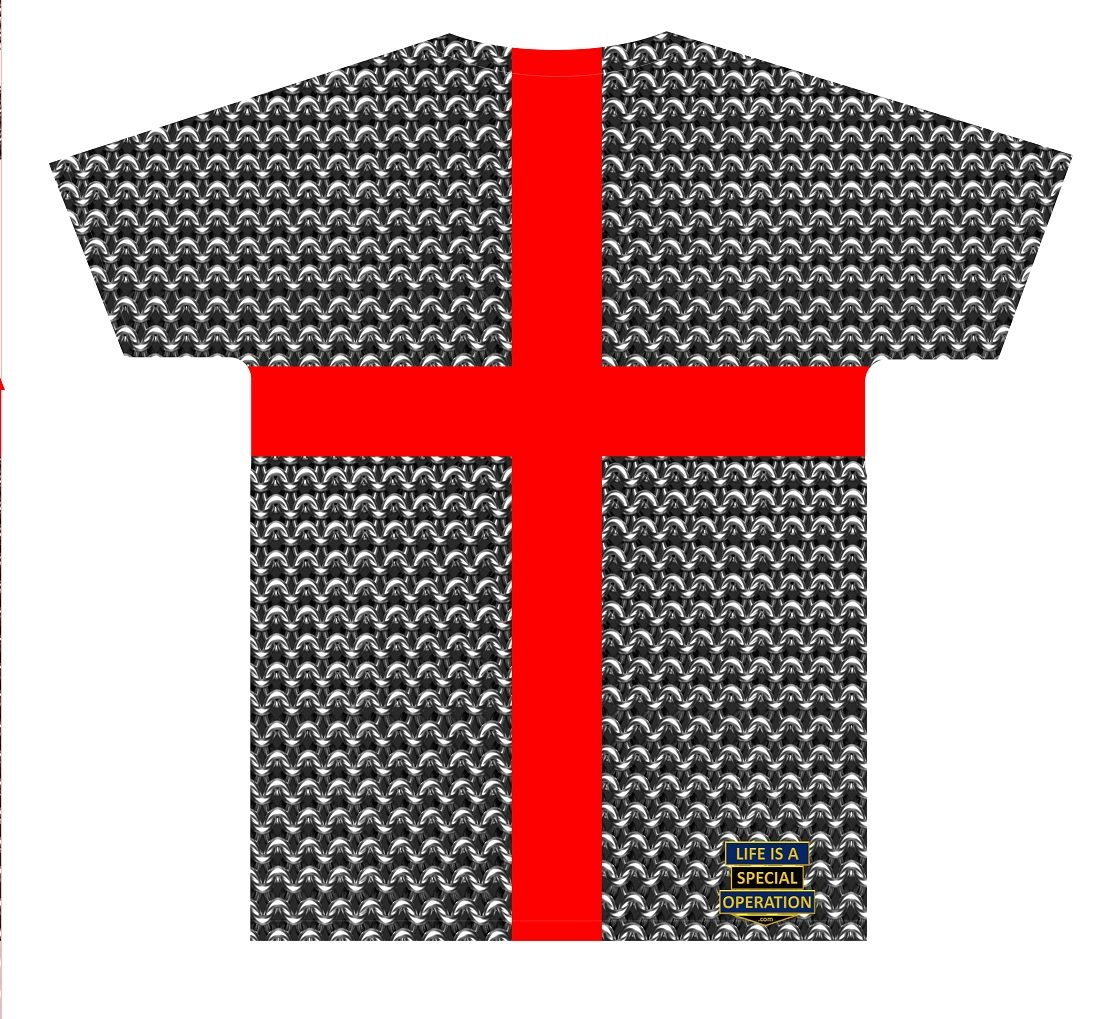 Templar Knight Body Armor T Shirt by Life is a Special Operation Back HD Mockup