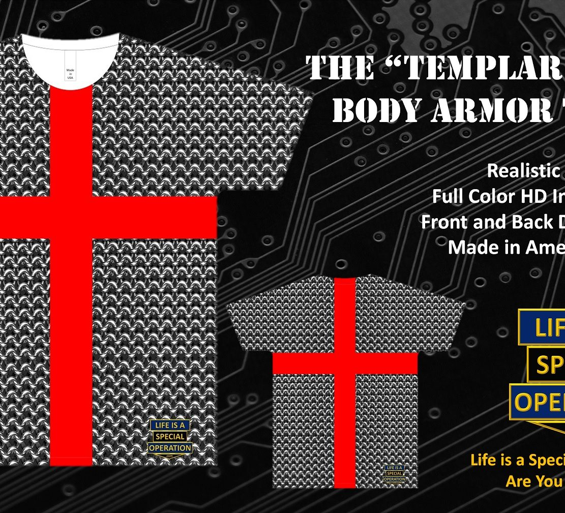 Templar Knight Body Armor T Shirt by Life is a Special Operation